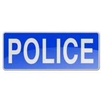 Reflective Sew-On Badge - POLICE