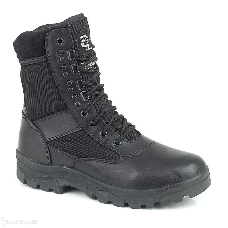 """Grafters G-Force - 8"""" Half-Leather Police Boot"""