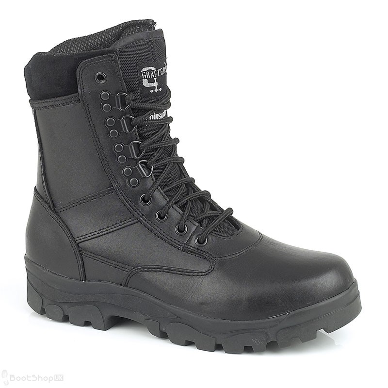 """Grafters Top Gun - 8"""" Leather Police Boot"""