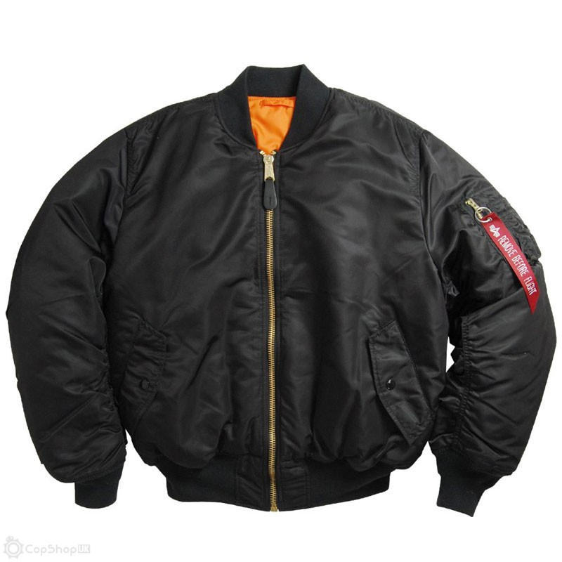 Alpha Industries MA-1 Flight Jacket - Black : CopShopUK