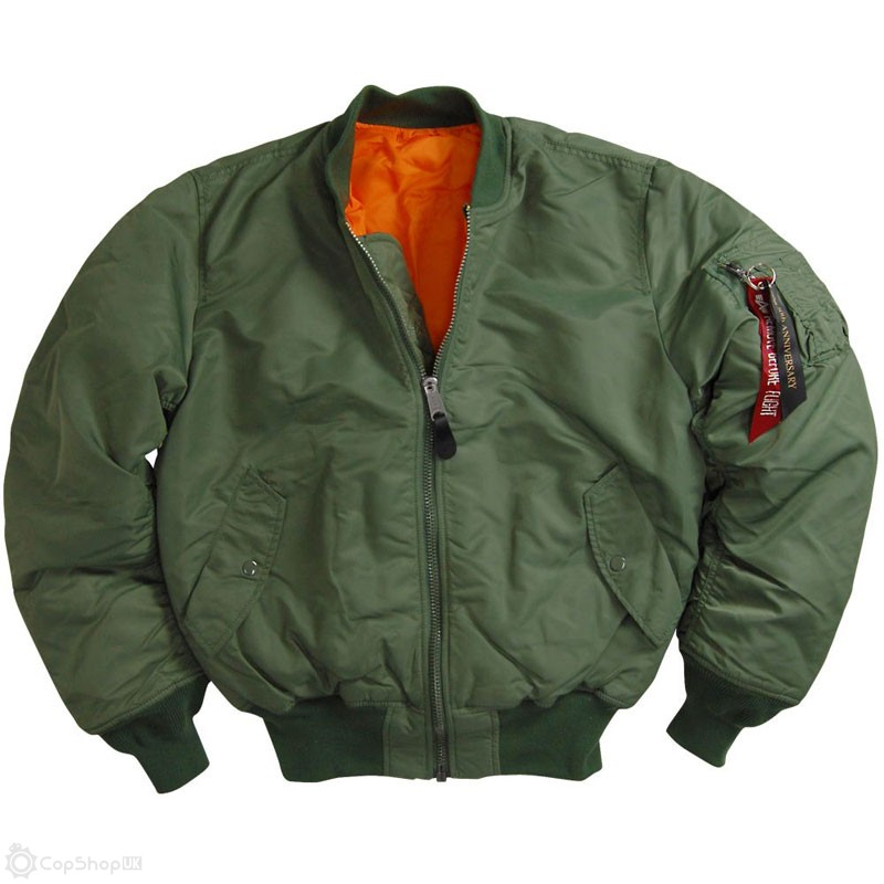 Alpha Industries MA-1 Flight Jacket - Sage Green : CopShopUK