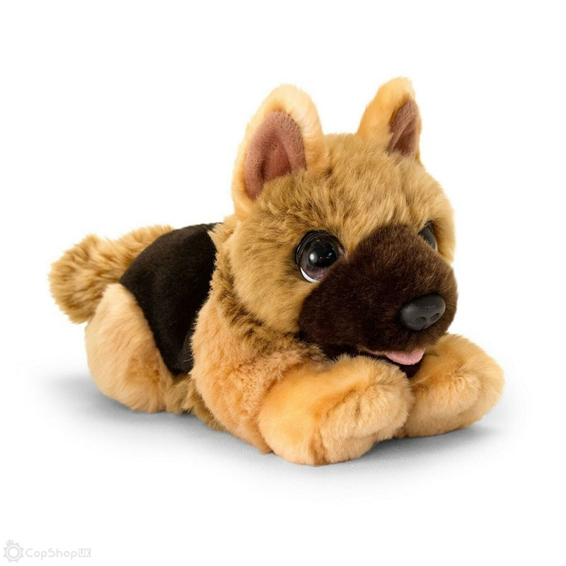 Cuddly German Shepherd Police Dog - 32cm