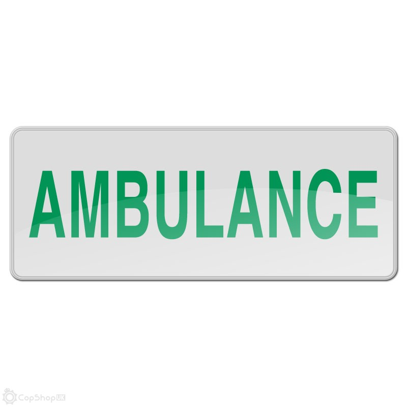 Reflective Sew-On Badge - AMBULANCE