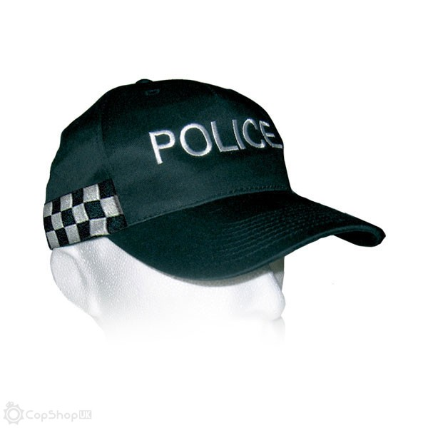 Police Baseball Cap - Checked Band