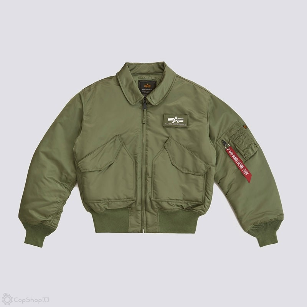 Alpha Industries CWU 45/P Flight Jacket - Sage Green - Size S & 3XL