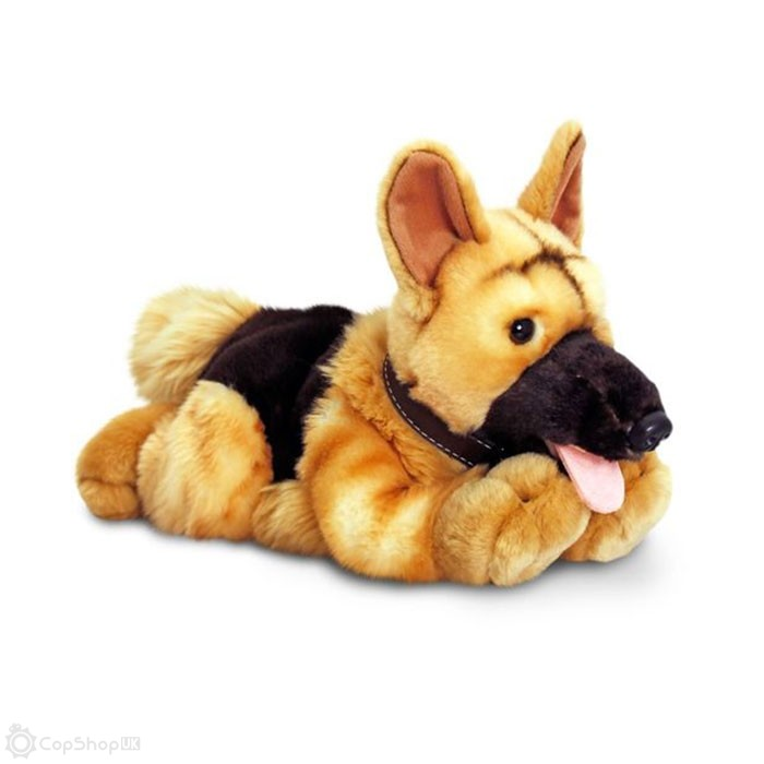 Cuddly German Shepherd Police Dog