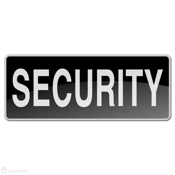 Reflective Velcro Badge - Small - Black - SECURITY