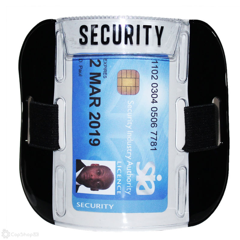 SIA Security Badge Holder Armband - Black