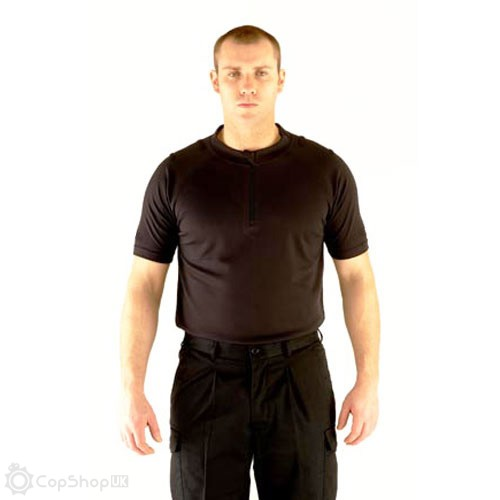 Mens Black Wicking Uniform Shirt