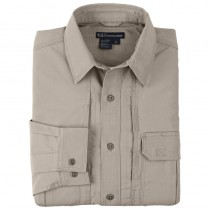 5.11 Tactical Cotton Shirt - Long Sleeve - TDU Khaki - Size L / XL