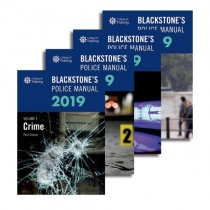 Blackstone's Police Manuals 2019: Four Volume Set