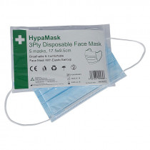 HypaMask 3Ply Disposable Face Mask - 5 Pack