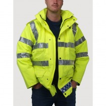 Waterproof Hi-Vis Police Jacket - Grade 1 Surplus