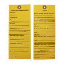 Exhibit Labels 185 x 80mm - 100 Pack - Yellow