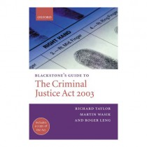 Blackstone's Guide to Criminal Justice Act 2003
