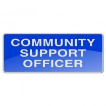 Reflective Sew-On Badge - COMMUNITY SUPPORT OFFICER