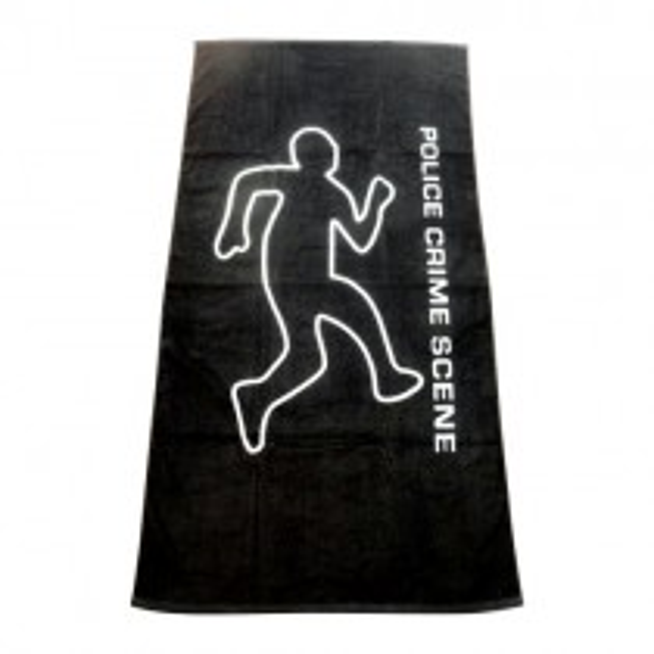 Police Crime Scene Beach Towel