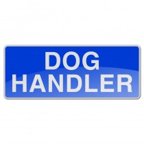 Reflective Sew-On Badge - DOG HANDLER