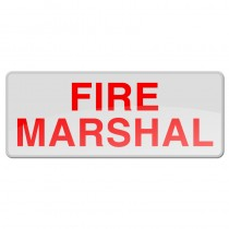 Reflective Sew-On Badge - FIRE MARSHAL