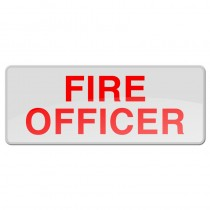 Reflective Sew-On Badge - FIRE OFFICER