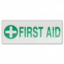 Reflective Sew-On Badge - FIRST AID