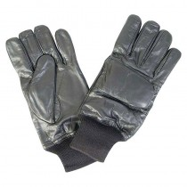 Black Leather Gloves - Size S