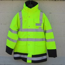 Waterproof Hi-Vis Police Jacket - 3XL - Grade 1 Surplus