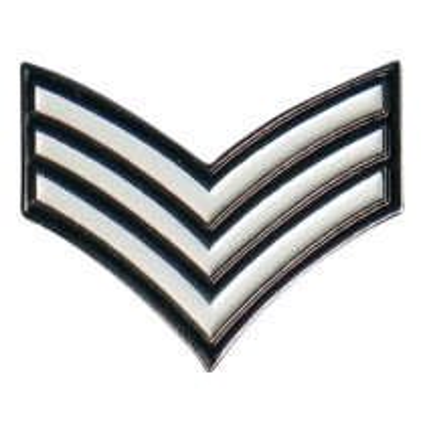 Lapel Pin Badge - Sergeant Chevrons
