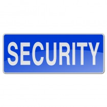 Reflective Sew-On Badge - SECURITY