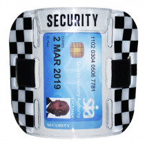 SIA Security Badge Holder Armband - Reflective Silver / Black