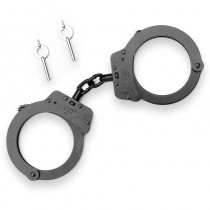 Double Sided Chain Handcuffs - Black