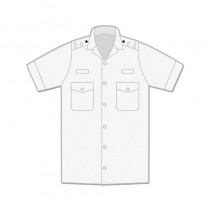 Uniform Shirt - Mens / Short Sleeve / Shoulder Loops / Open Neck