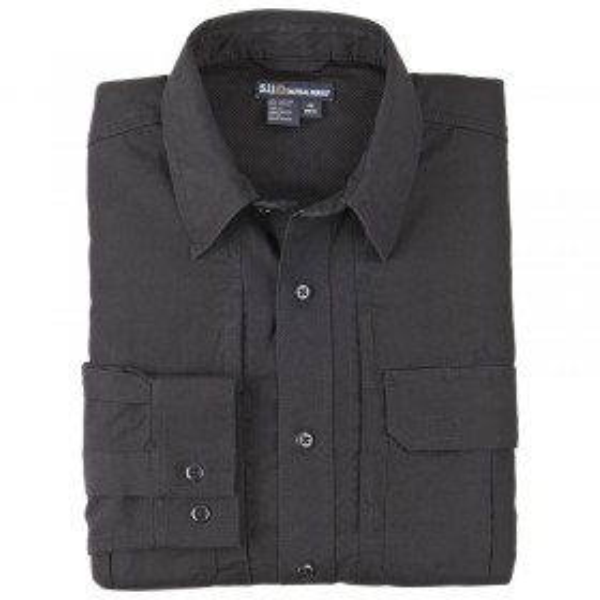 5.11 Tactical Cotton Shirt - Long Sleeve - Black - Size S / L