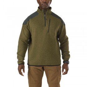 5.11 Tactical 1/4 Zip Sweater - Field Green - Size S