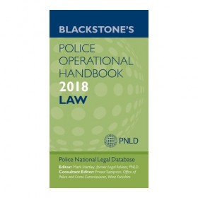 Blackstone's Police Operational Handbook 2018