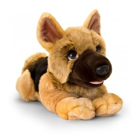 Cuddly German Shepherd Police Dog - 37cm