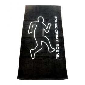 Police Crime Scene Beach Towel