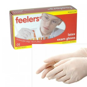 Latex Exam Gloves - Powder Free - Textured