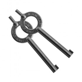 Black Standard Handcuff Key - Double Pack