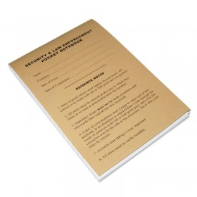 Security & Law Enforcement Pocket Notebook -100 Page