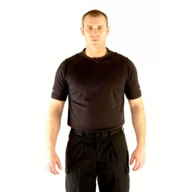 Mens Black Wicking Police Shirt