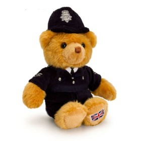 Cuddly UK Policeman Bear - 15cm