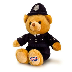 Cuddly UK Police Bear - 19cm