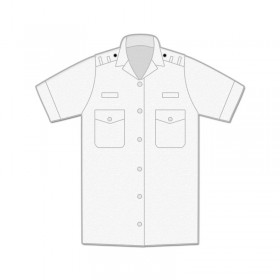 Uniform Shirt - Womens / Short Sleeve / Shoulder Loops / Open Neck