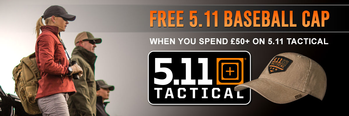 Spend over £50 on 5.11 and get a free cap