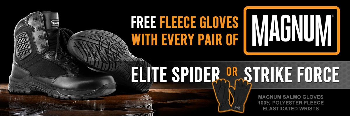 Free Gloves with Magnum Spider and Strike Force